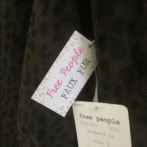 Free People Jackets & Coats - Free People Brand Faux Fur Leopard Trench Coat.